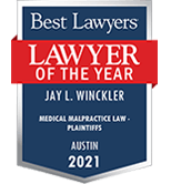Best Lawyers | Lawyer of the Year | Jay L. Winckler - Medical Malpractice Law Plaintiffs | 2021